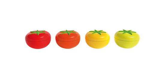 Zak!Designs Kitchen & Garden Tomaat Dipschaaltje Incl. Deksel - Melamine - Ø 8,5 cm - Oranje