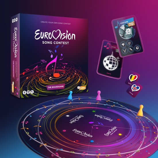 Eurovisie Songfestival Spel - Eurovision Song Contest Gezien op TV - bordspel