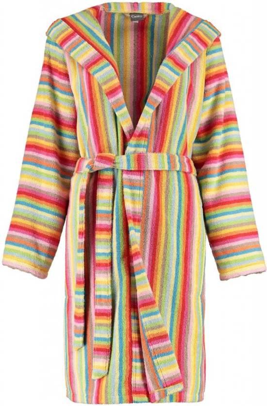 414e81d2a2a Cawö korte dames badjas badstof met capuchon multicolor maat 46
