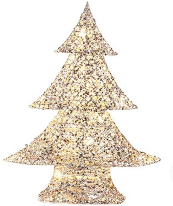 LED kerstboom zilvergoud 48 cm Valentinaa