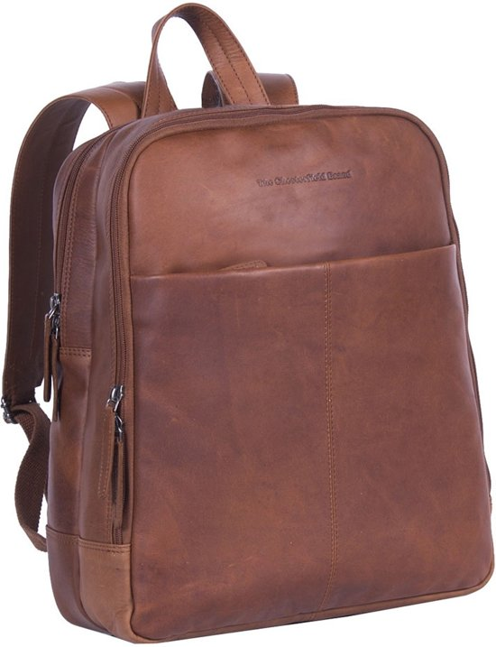 1cfb53b043f Chesterfield Dex laptop rugzak Waxed Pull Up cognac