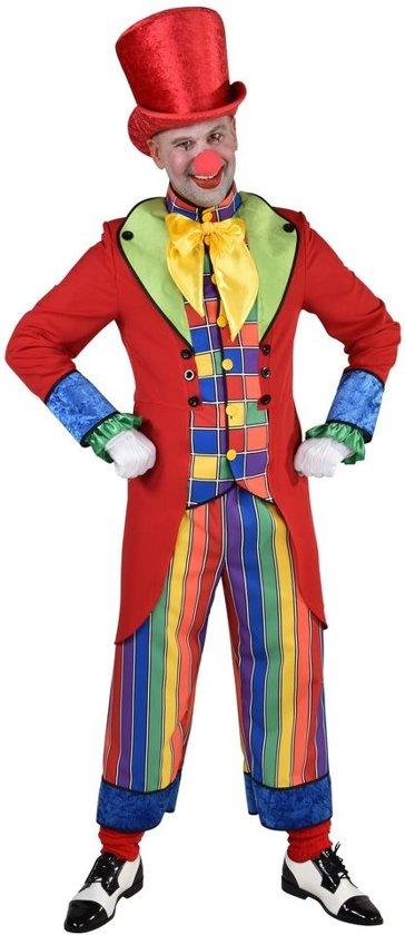 Clown & Nar Kostuum | Dol Dwaas Regenboog Circus | Man | Large | Carnaval kostuum | Verkleedkleding