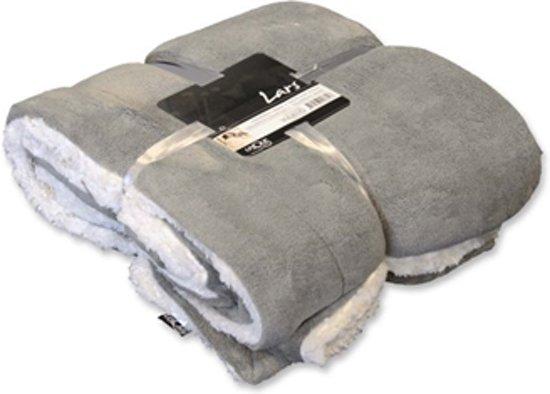 Unique Living Plaid Lars - 150x200 cm - Light Grey
