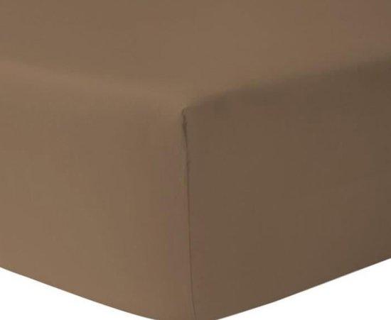 Hoeslaken KATOEN 180 x 210/220 hoek 30 cm kleur TAUPE