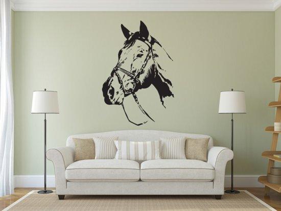 Paarden Sticker Muur.Bol Com Muursticker Paard 58x83 Zwart