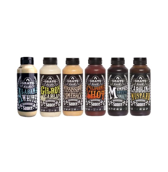 Grate Goods Mix Barbecue Sauce 6x265ml