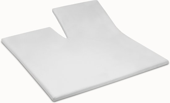 Damai - Hoeslaken splittopper - Double Jersey -180 x 200/210 cm - White