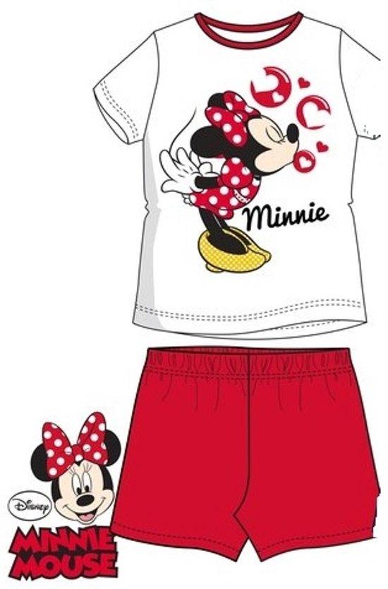 344dda54cfa bol.com   Minnie Mouse shortama, pyjama maat 98/104 rood/wit