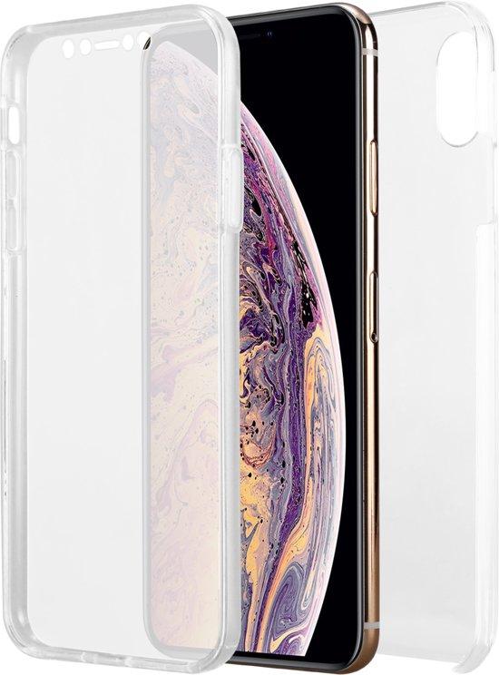 Iphone XS MAX Hoesje Transparant  voor en achterkant bescherming TPU + plastic