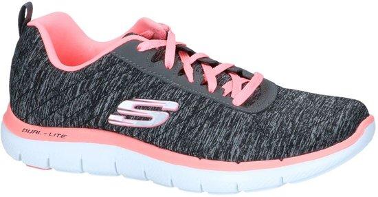 Donkergrijze Sneakers Skechers Flex Appeal   SCHOENENTORFS