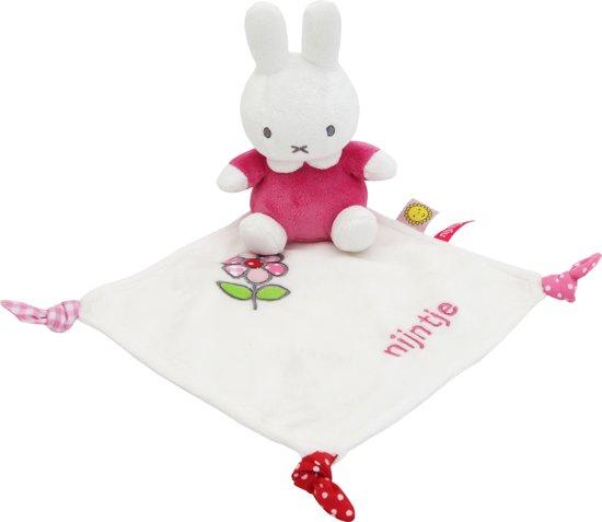 lief knuffeldoek konijn roze