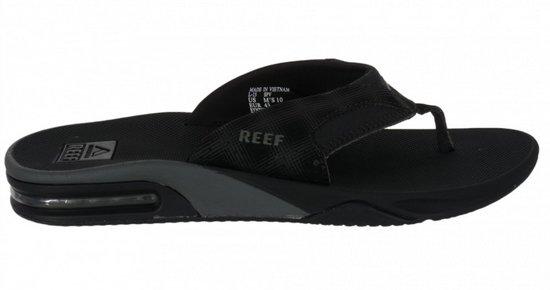 bol | reef fanning prints zwart slippers heren