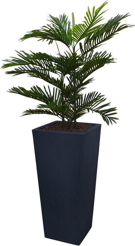 Kunstplant Arecapalm met sierpot Genesis38 antraciet