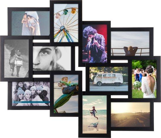 Acaza - Multi 12 - Fotolijst - Collagelijst - Zwart
