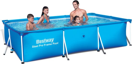bestway deluxe splash frame pool 300x201x66 cm