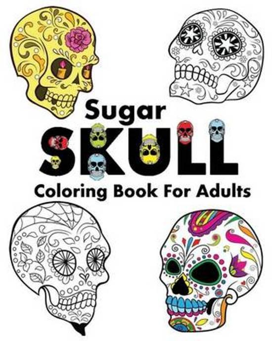 boek cover sugar skull coloring book for adults van dia de los muertos paperback - Dia De Los Muertos Coloring Book