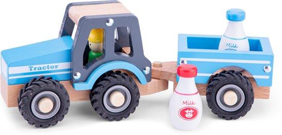 New Classic Toys - Tractor met Aanhanger - Melkbus