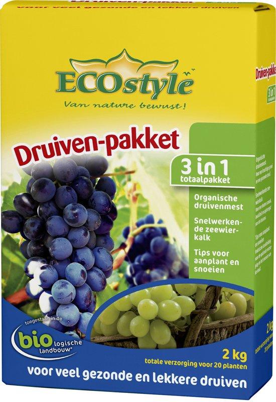 ECOstyle Druiven-pakket - totale druivenverzorging - 2 kg voor ca. 20 planten