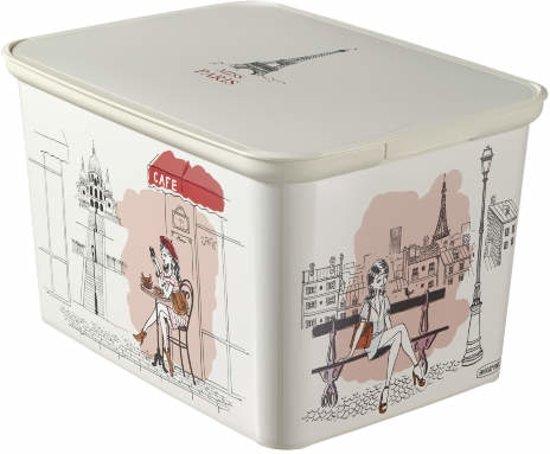 curver decobox amsterdam opbergbox l miss paris. Black Bedroom Furniture Sets. Home Design Ideas