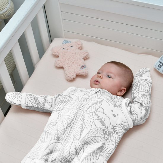Lodger Baby slaapzak - Hopper BotAnimal - Wit - Lange mouw - 68/80