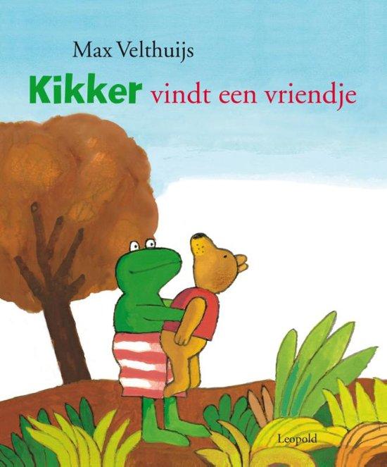 Boek cover Kikker vindt een vriendje [GROOT] van Max Velthuijs (Hardcover)