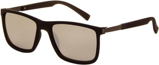 Az-eyewear Zonnebril Unisex Matzwart Met Spiegellens (8200 P)
