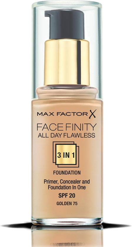 Max Factor Facefinity All Day Flawless 3-in-1 Liquid Foundation - 75 Golden
