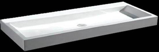 Wasbak 1 Meter : Bol.com best design solid wastafel bevo 100x42x10cm mat wit