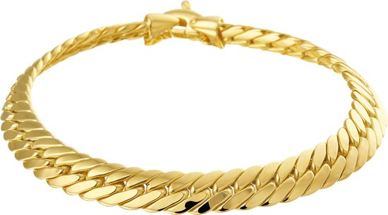 The Jewelry Collection Armband Gourmet 7,3 mm 19 cm - Geelgoud