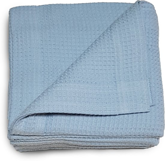 Damminga Wafeldeken - 100% Katoen - 180 x 250 - Eenpersoons - Blauw