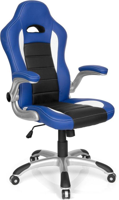 Bureaustoel Blauw Zwart.Hjh Office Racer Sport Bureaustoel Gamingstoel Blauw Zwart