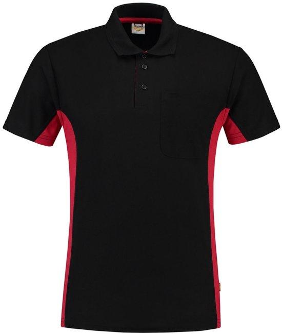 Tricorp Poloshirt Bi-Color - Workwear - 202002 - Zwart-Rood - maat 5XL