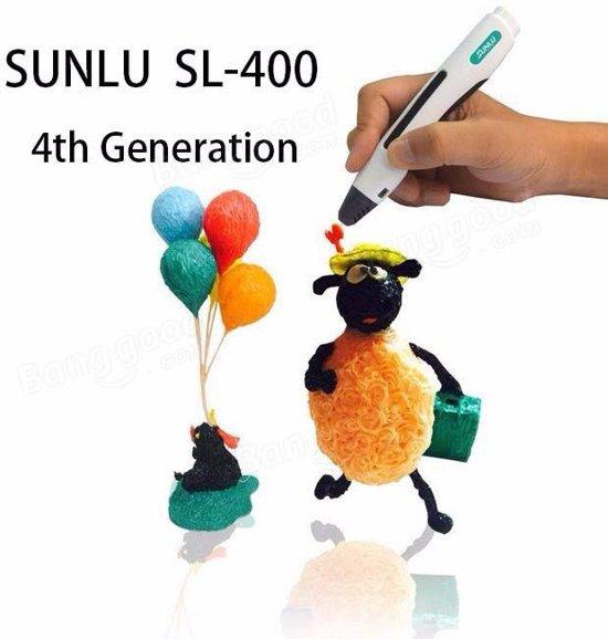 Sunlu Sl-400 intelligent 3D PRINTER PEN 4th Generation - Zwart - Incl 120m PLA Filament en Gratis 3D PAD