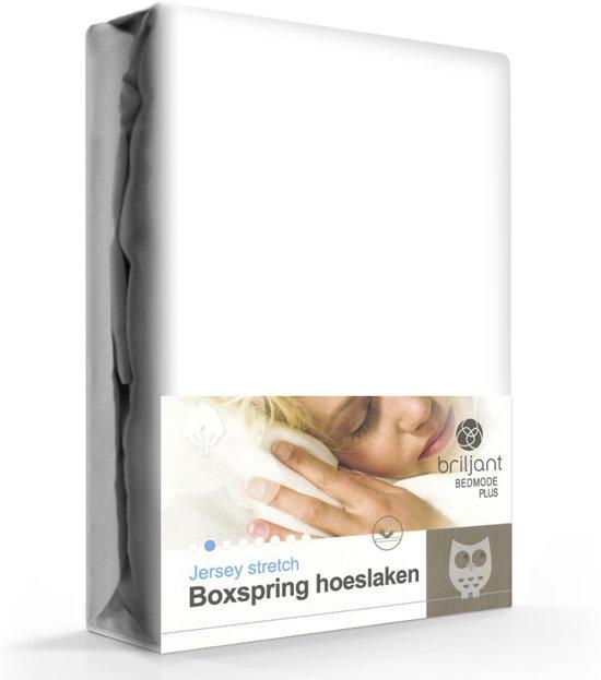 Boxspring hoeslaken - Wit - Lits-jumeaux (180x200 cm) - (160x210/220 cm)