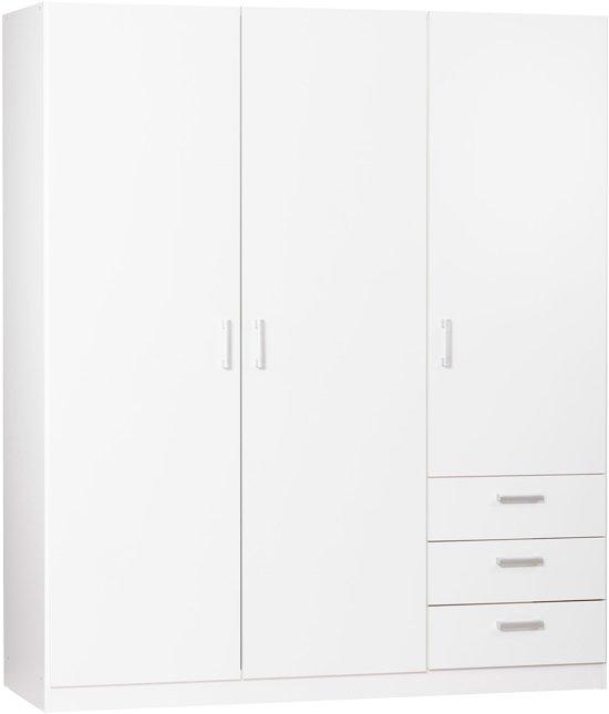 True Furniture Valencia 33R - Kledingkast - Wit