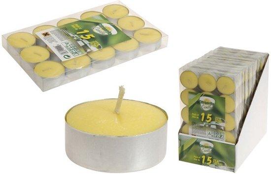 Theelichtjes 15 st citronella
