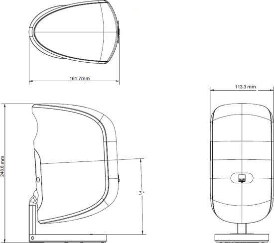 Bowers & Wilkins M1 Zwart (per stuk)