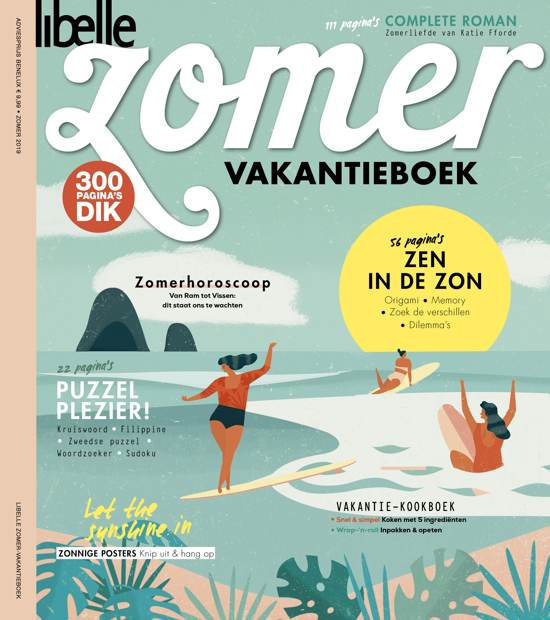 Boek cover Libelle Vakantieboek 2019 van Sanoma Media Nl. Cluster : Vro (Paperback)