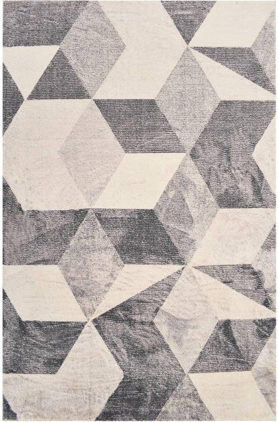 vidaXL Vloerkleed bedrukt 120x170 cm polyester beige