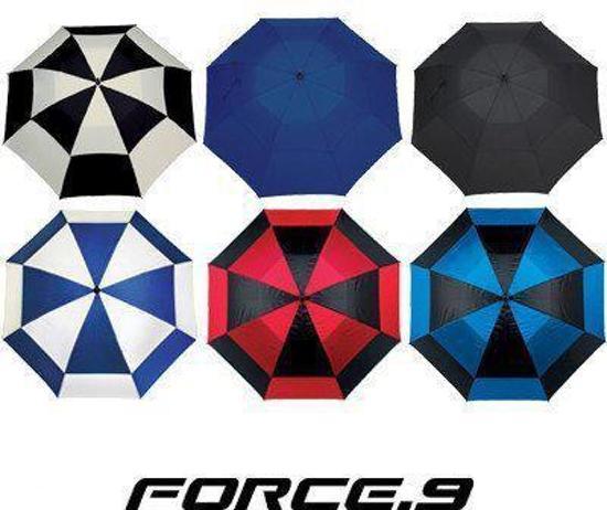 Golfparaplu Force.9 kleur zwart