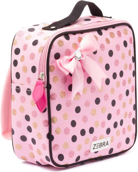 e47f91eb684 bol.com | Zebra Trends Kinder Rugzak Wild Dots Glitter Pink Met Strik