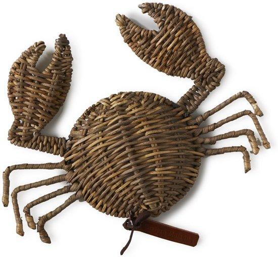 Riviera Maison Rustic Rattan Crab- 20x28 Cm - Bruin