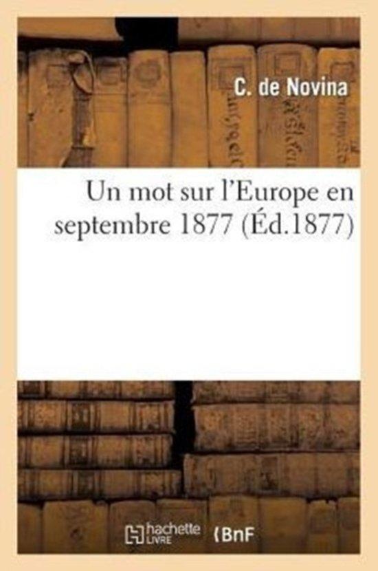 Un Mot Sur l'Europe En Septembre 1877
