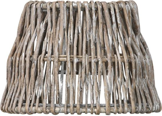 Light & Living ROTAN Vertical Weaving Drum - lampenkap - Ø20 cm - Bruin Grijs