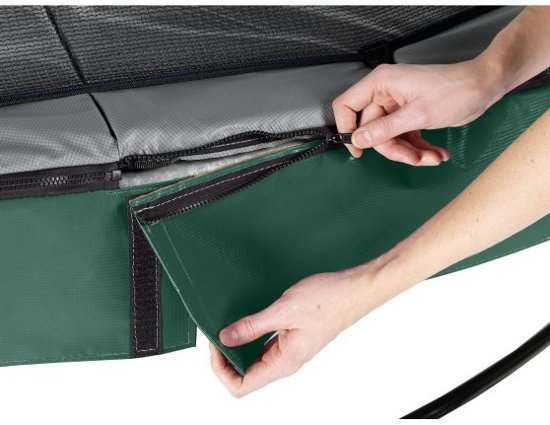 EXIT Elegant trampoline ø366cm met veiligheidsnet Deluxe - groen