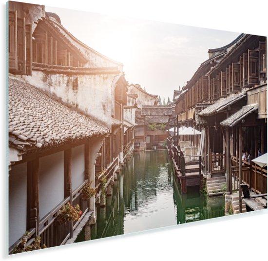 Schitterende wijk midden in Suzhou Plexiglas 30x20 cm - klein - Foto print op Glas (Plexiglas wanddecoratie)