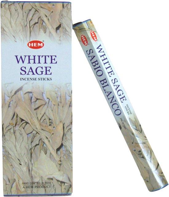 Witte Salie Wierook.White Sage Witte Salie Wierook Hem Doos 6 Pakjes A 20 Stokjes