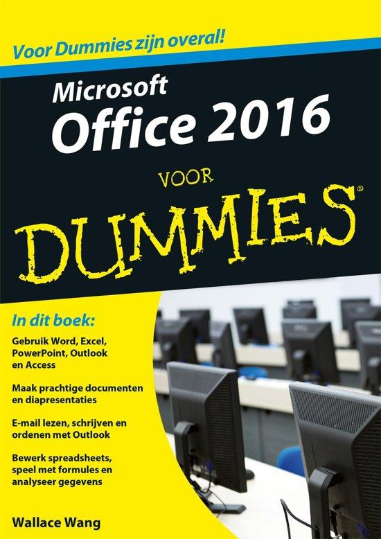 Boek cover Voor Dummies - Microsoft Office 2016 voor Dummies van Wallace Wang (Onbekend)