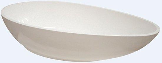 Ligbad Vrijstaand Ro-Stone Move Ovaal 90x190x50cm Solid Surface Mat Wit