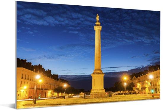 Franse architectuur in de Franse stad Nantes Aluminium 60x40 cm - Foto print op Aluminium (metaal wanddecoratie)